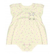Vestido Body Coelhinha Rovitex Baby Off White