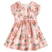 Vestido com cinto Milon Floral Rosa