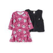 Vestido com Colete Panda Pingo Lelê