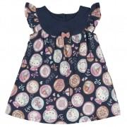 Vestido Infantil Hello Kitty Marinho