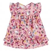 Vestido Infantil Hello Kitty Rosa
