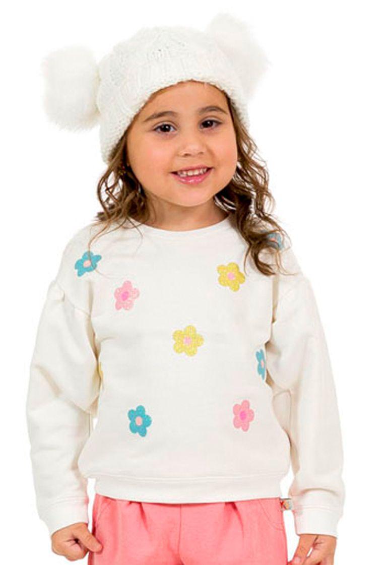 Blusa Flores com Glitter Tinkbink