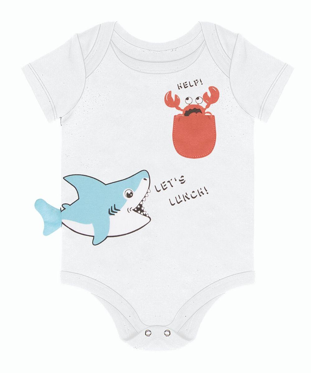 Body Branco Tubarão