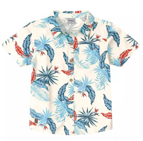 Camisa Tropical Rovitex Kids Off White