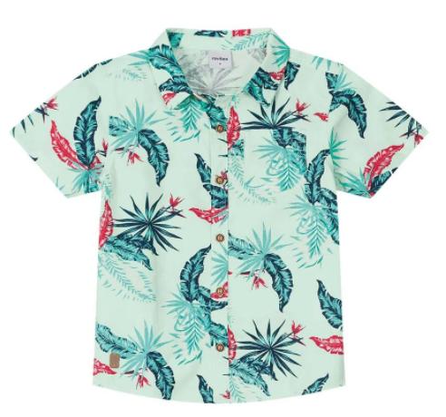Camisa Tropical Rovitex Kids Verde