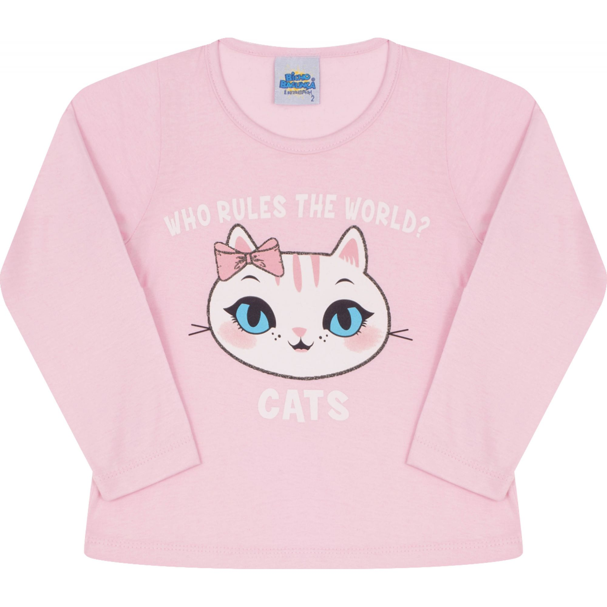 Camiseta Cats Rosa Bicho Bagunça