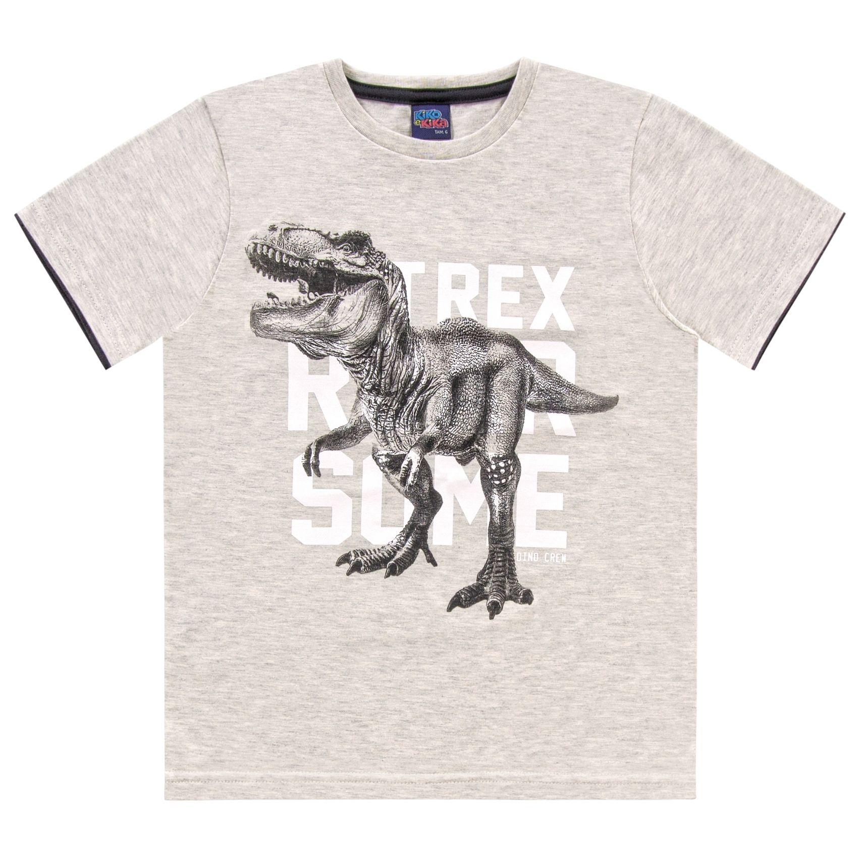 Camiseta Dino Crew Off-White Kiko