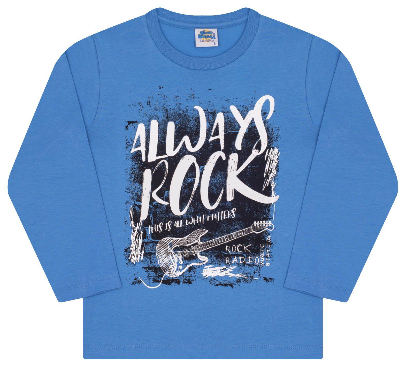 Camiseta Guitarra Azul Bicho Bagunça