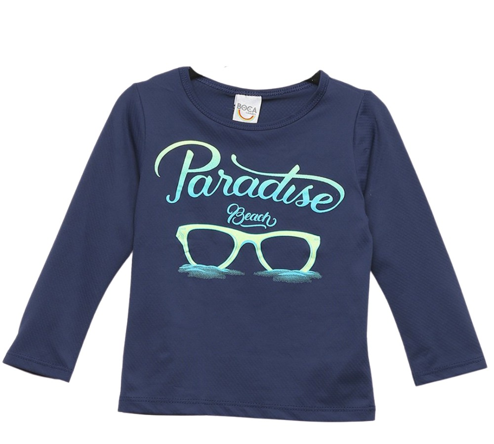 Camiseta Infantil Boca Grande Marinho Proteção UV 50