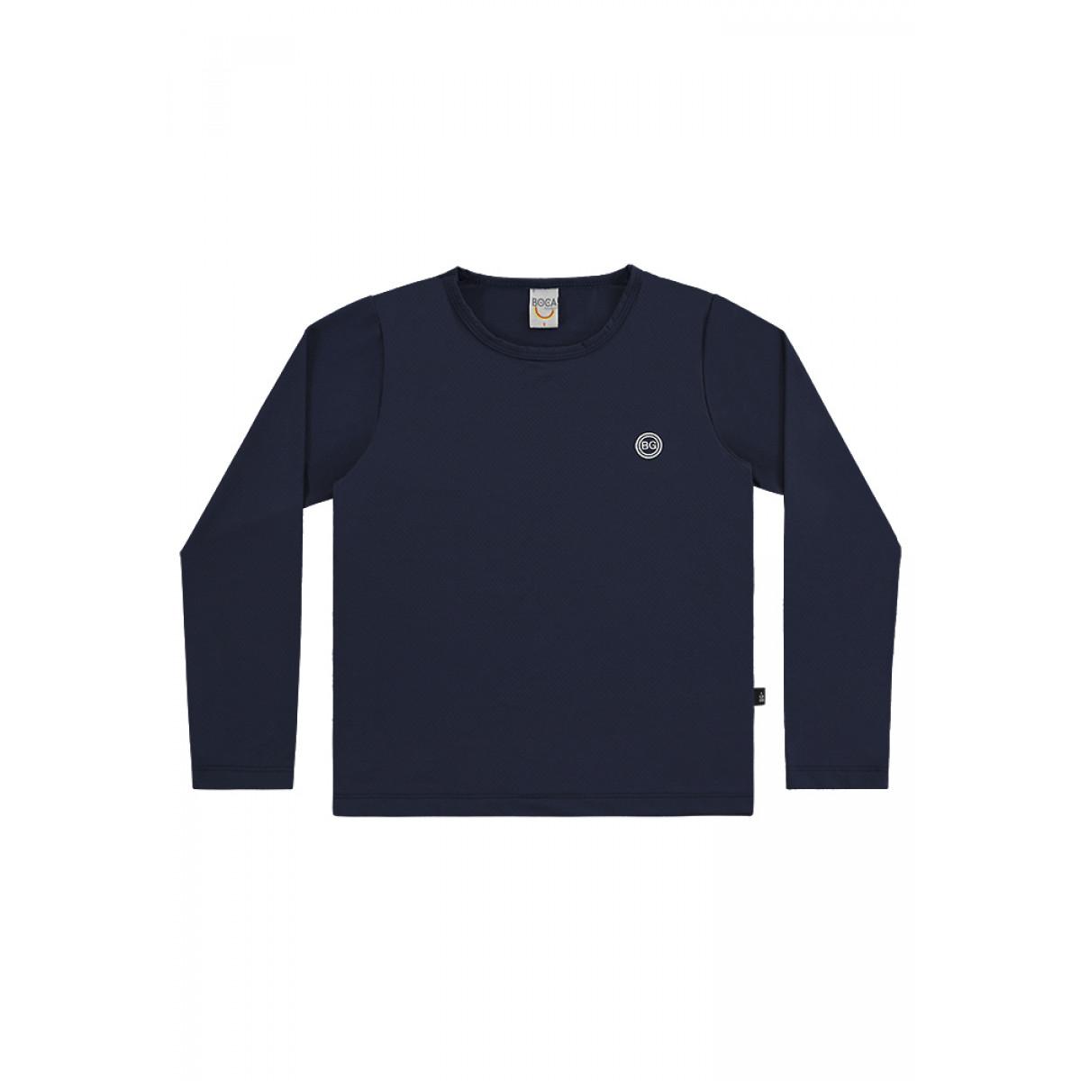 Camiseta Infantil Boca Grande Proteção UV 50 Marinho