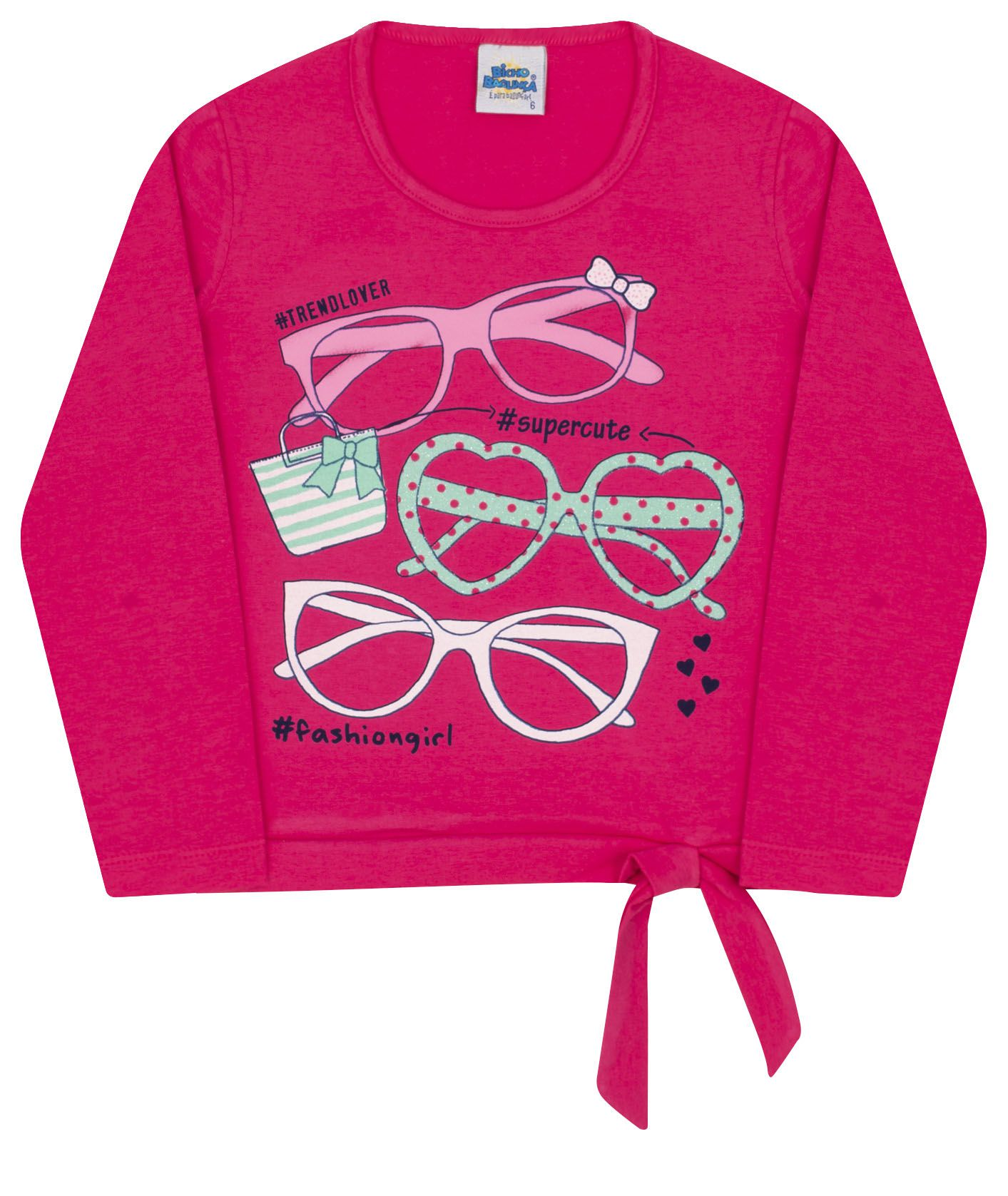 Camiseta Lacinho Pink Bicho Bagunça