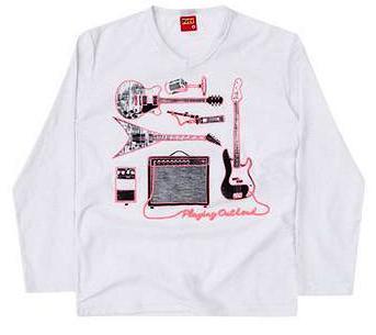 Camiseta Manga Longa Kyly Flamê Branca