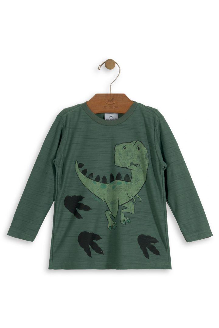 Camiseta Menino Dino Verde
