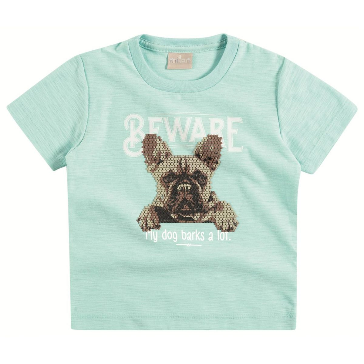 Camiseta Milon Cachorrinho Verde