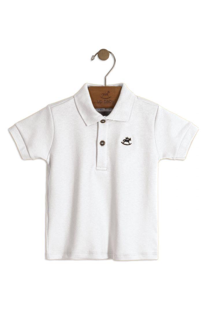 Camiseta Pólo Branca Up Baby