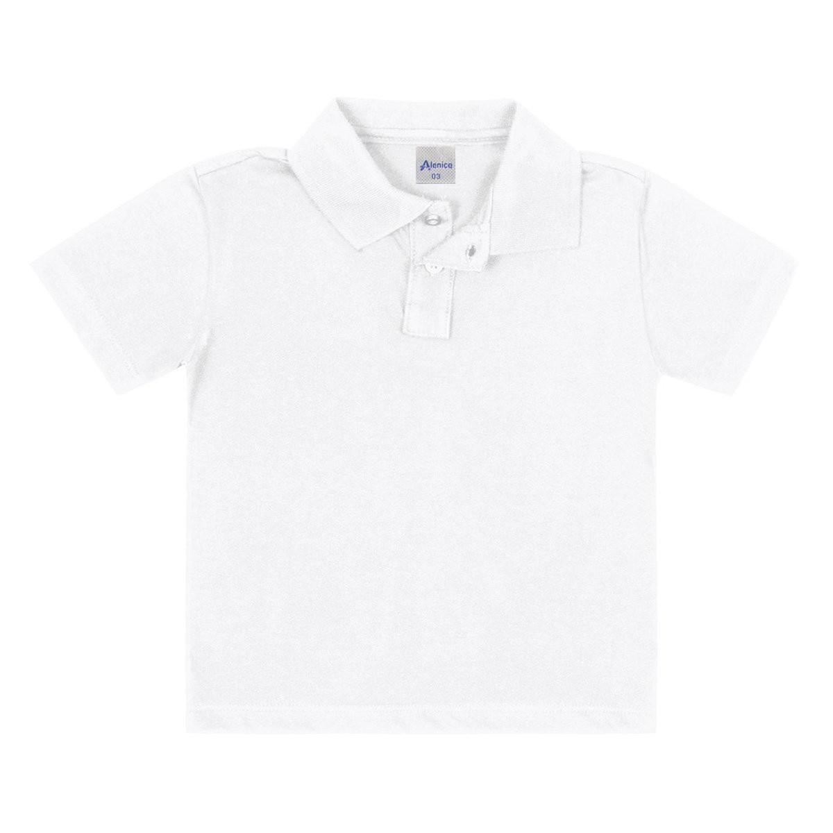 Camiseta Pólo Branco Alenice