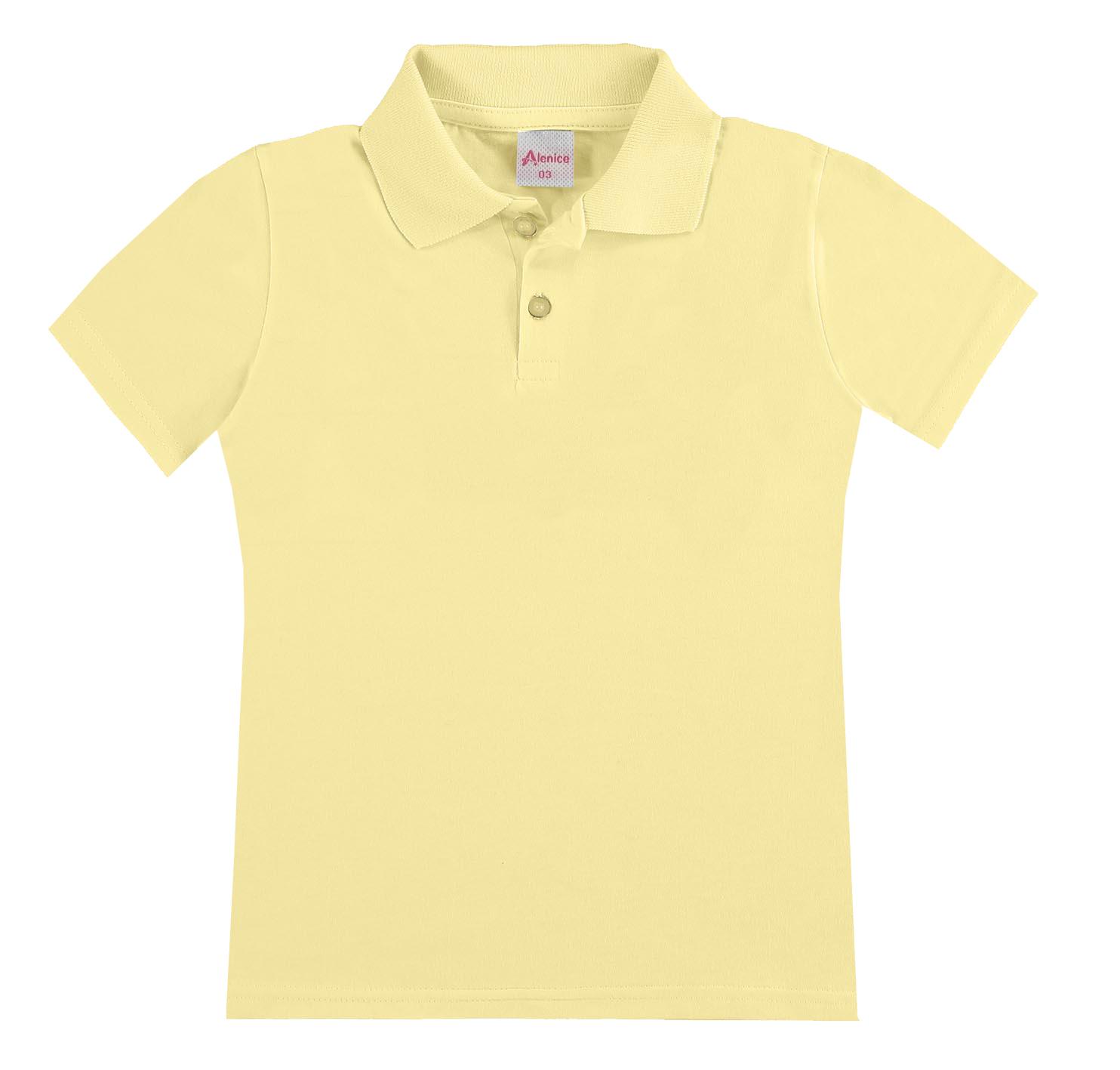 Camiseta Pólo Menina Amarelo Alenice
