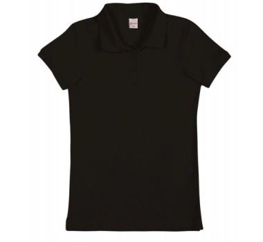 Camiseta Pólo Menina Preto Alenice