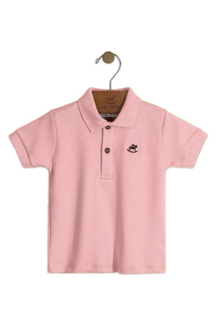 Camiseta Pólo Rosa Up Baby