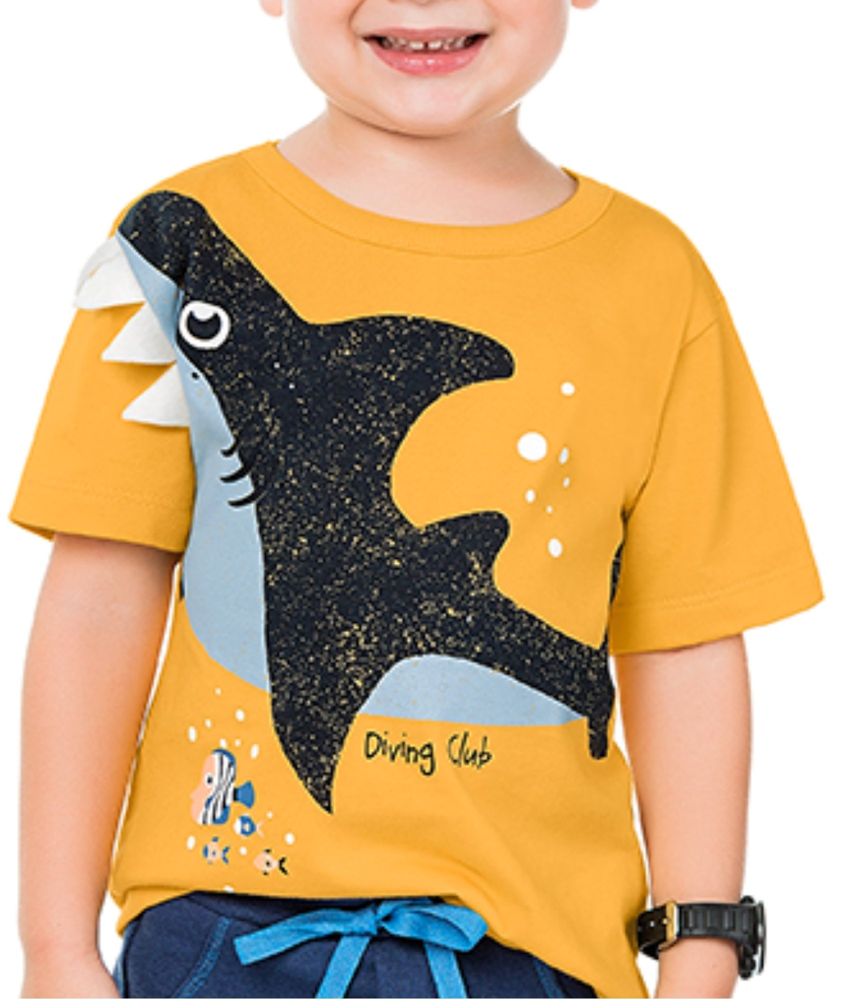 Camiseta Tubarão Amarelo Kiko