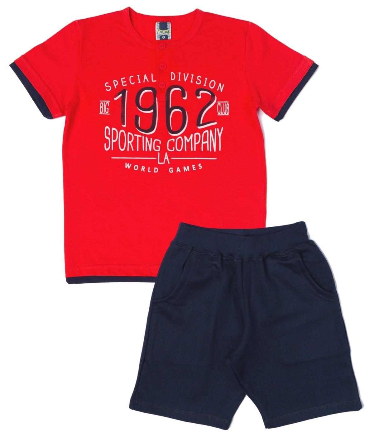 Conjunto 1962 Menino TileeSul Vermelho