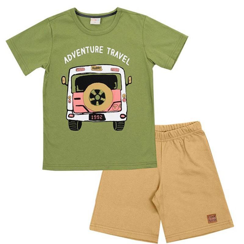 Conjunto Adventure Travel Tink Bink Verde
