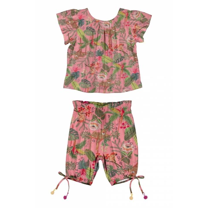 Conjunto Bata e Shorts Floresta Up Baby