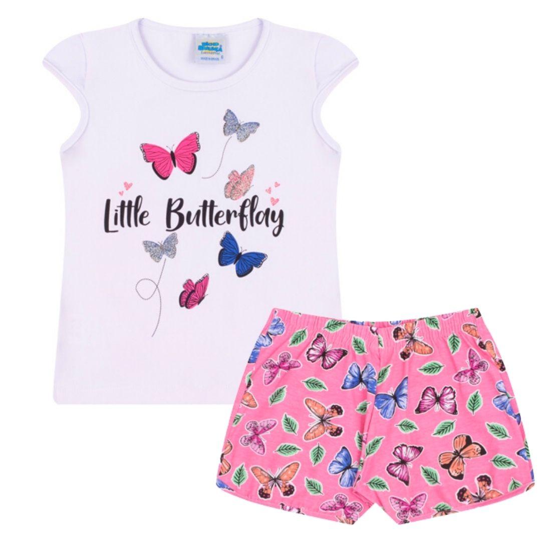 Conjunto Butterfly Bicho Bagunça Branco