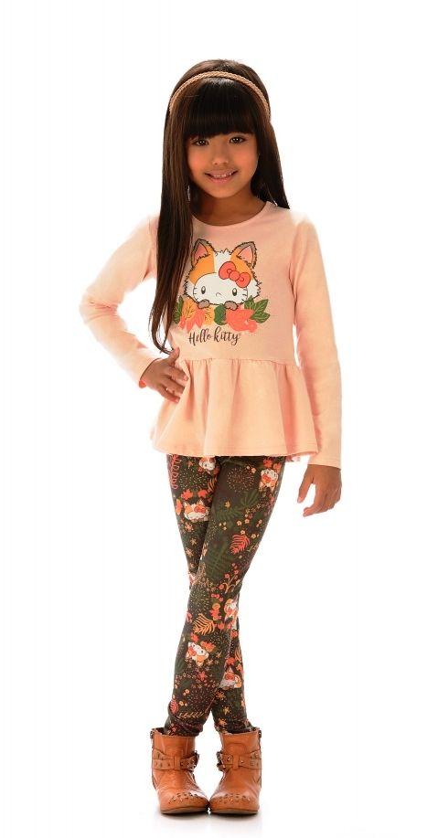 Hello Kitty Conjunto Calça e Blusa Verde