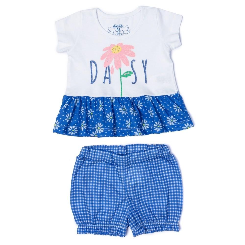 Conjunto Daisy Menina TileeSul Azul