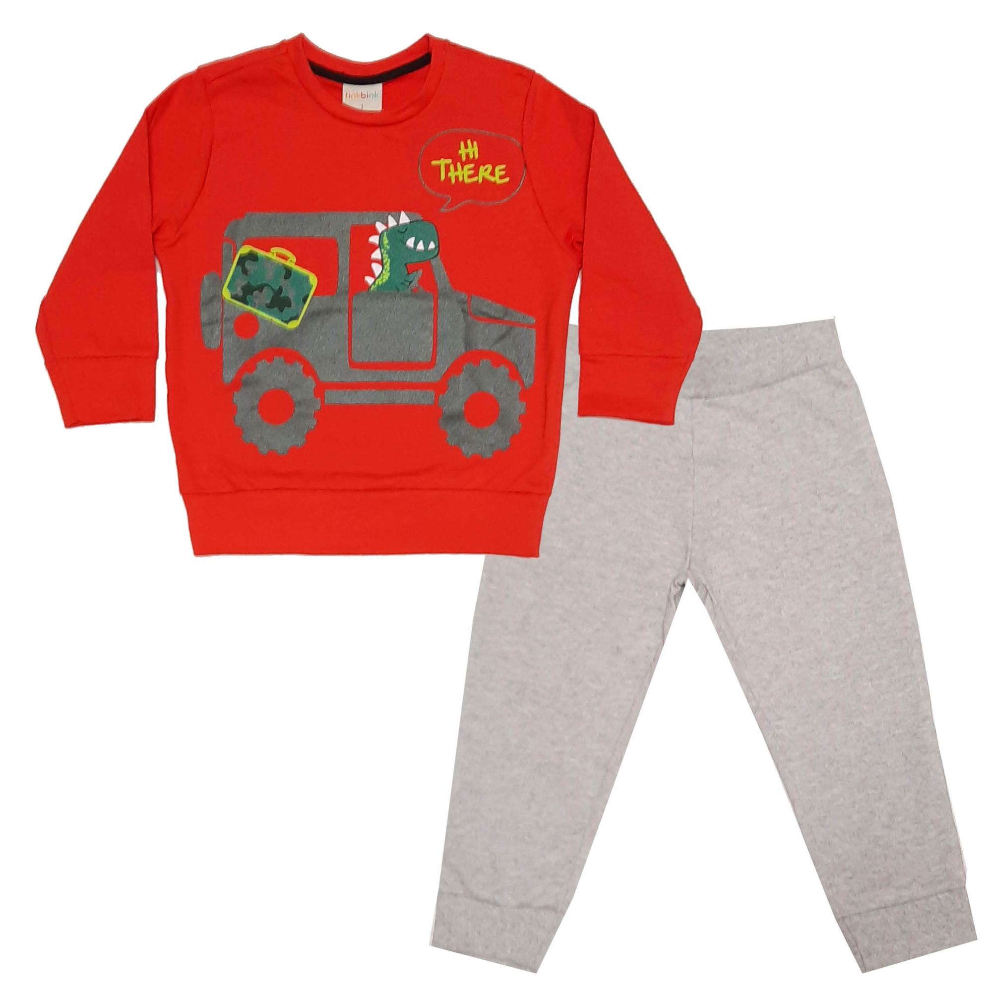 Conjunto Dino Car Tinkbink
