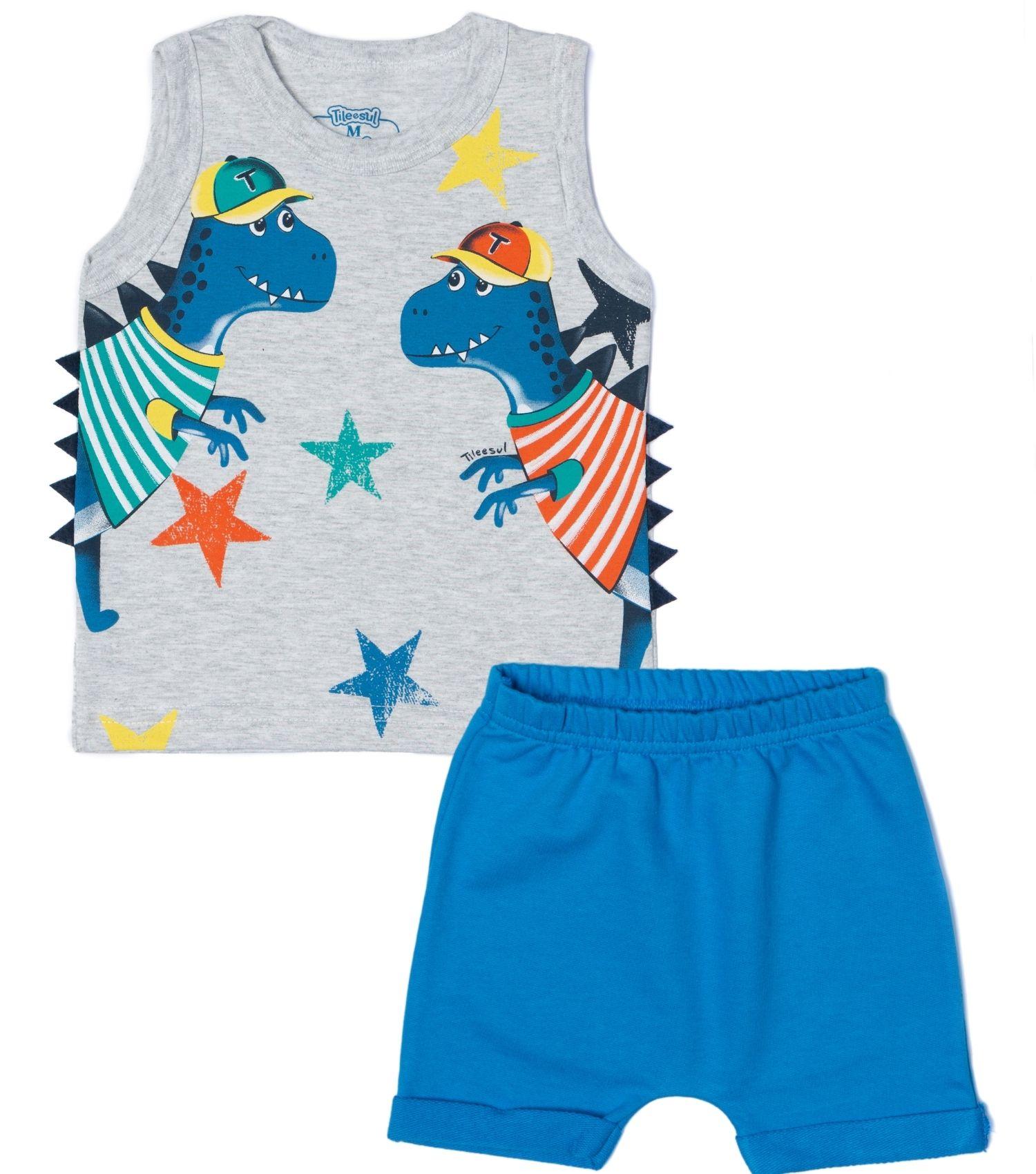 Conjunto Dino Stars TileeSul Cinza