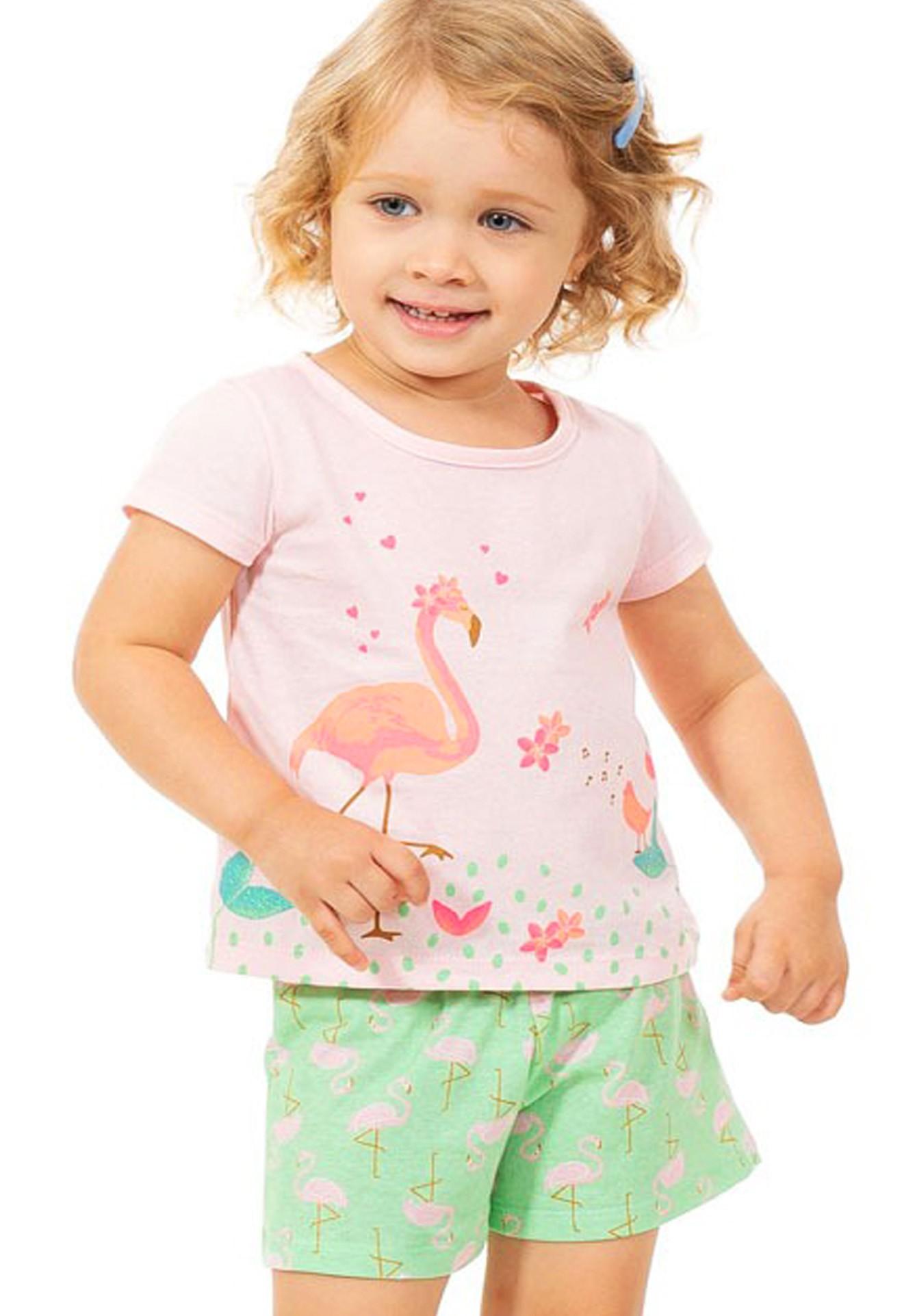 Conjunto Flamingo Tink Bink