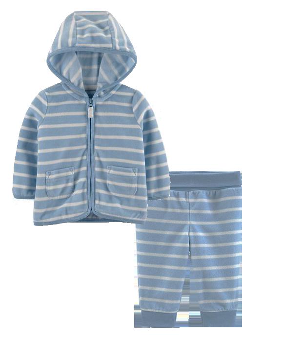 Conjunto Fleece Carter's Azul