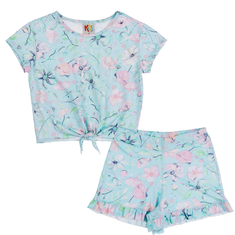 Conjunto Floral Água Menina Infantil