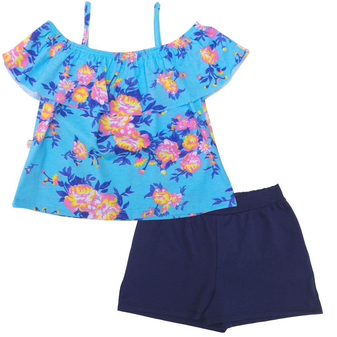 Conjunto Florido Azul Tinkbink