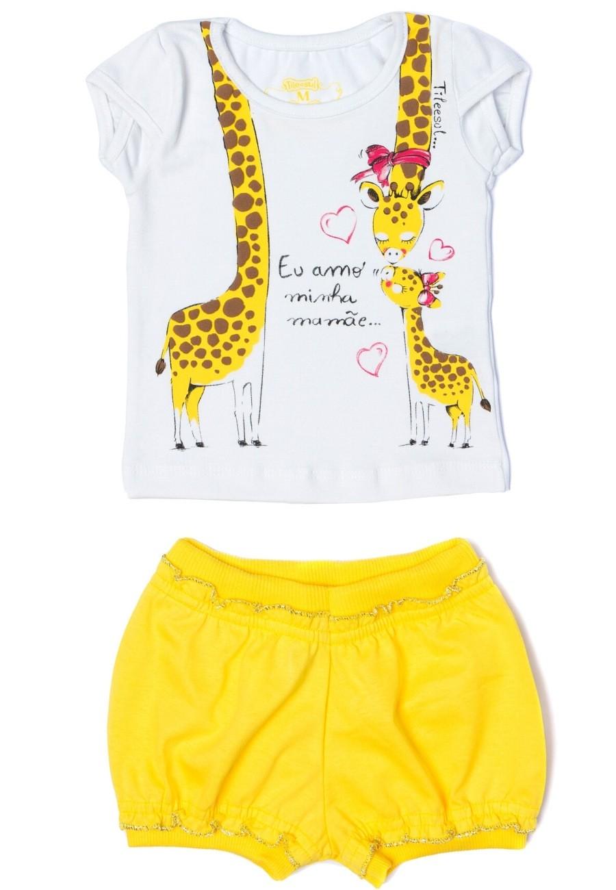 Conjunto Girafa Menina TileeSul