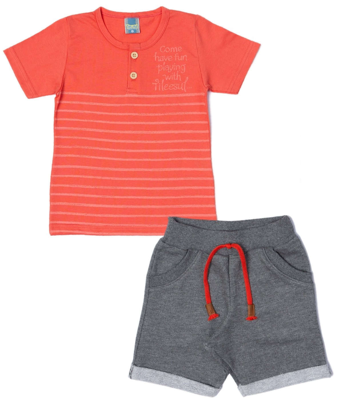 Conjunto Have Fun Friend Menino TileeSul Coral