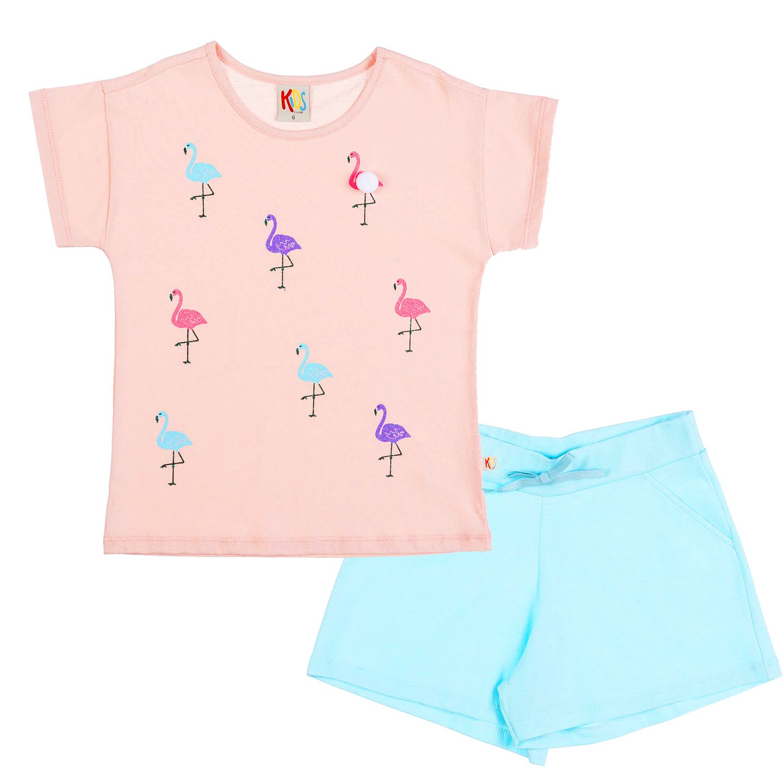 Conjunto Infantil Flamingo Rosa