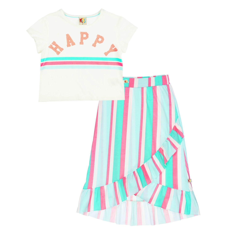 Conjunto Infantil Happy Rosa Neon
