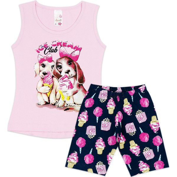 Conjunto Infantil Ice Cream Club Analê