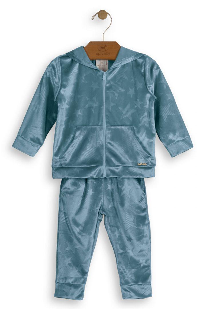 Conjunto Infantil Menina Veludo Azul