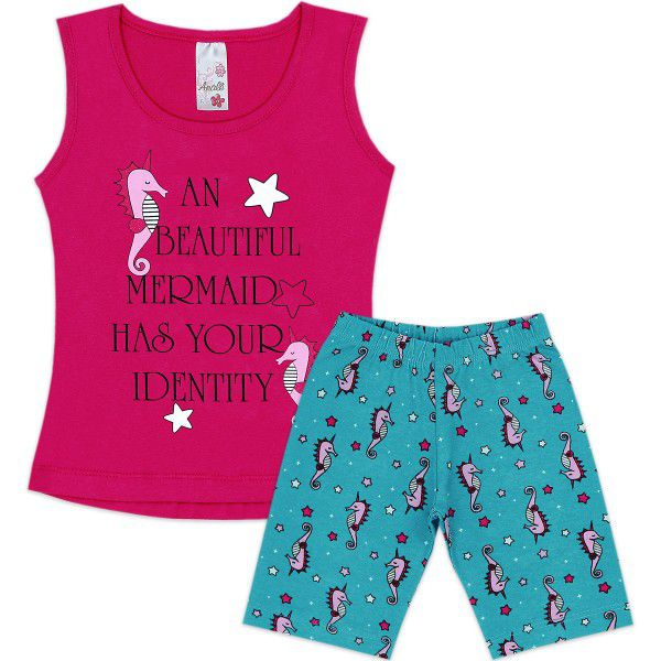Conjunto Infantil Mermaid Analê