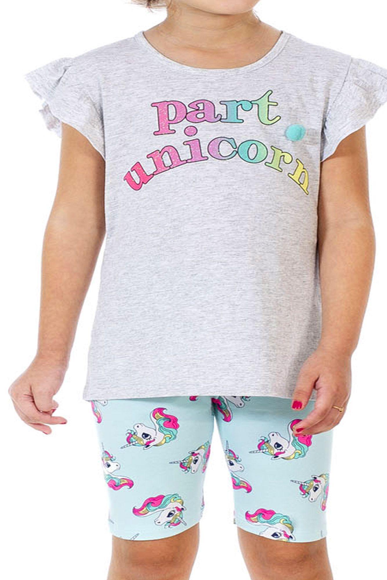 Conjunto Infantil Part Unicorn Mescla