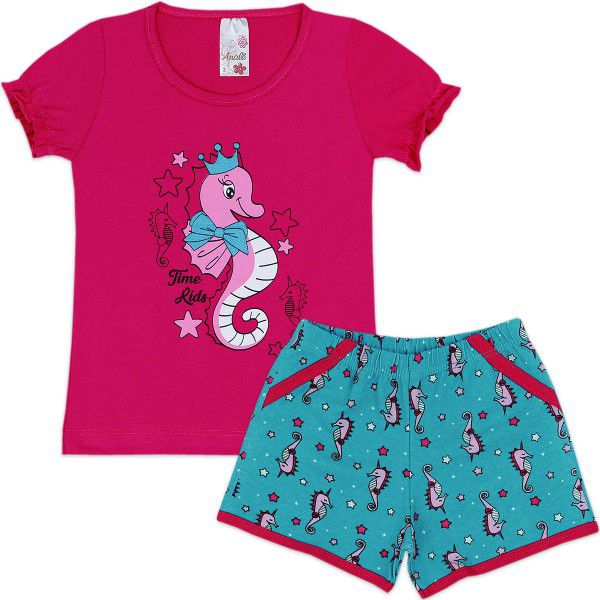 Conjunto Infantil Pink Analê