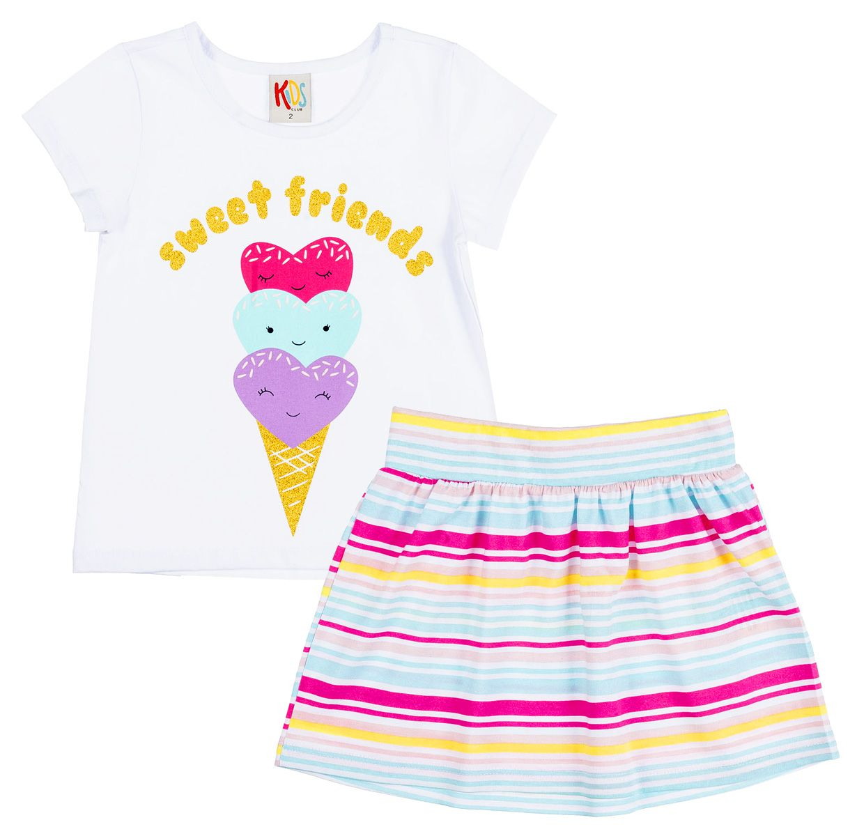 Conjunto Infantil Sweet Friends Branco