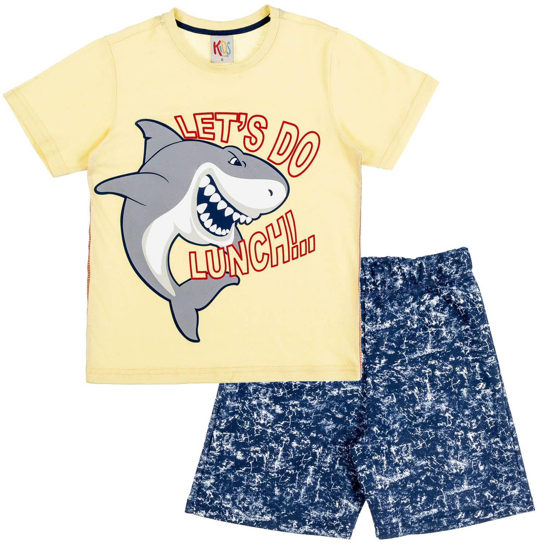 Conjunto Infantil Tubarão Amarelo