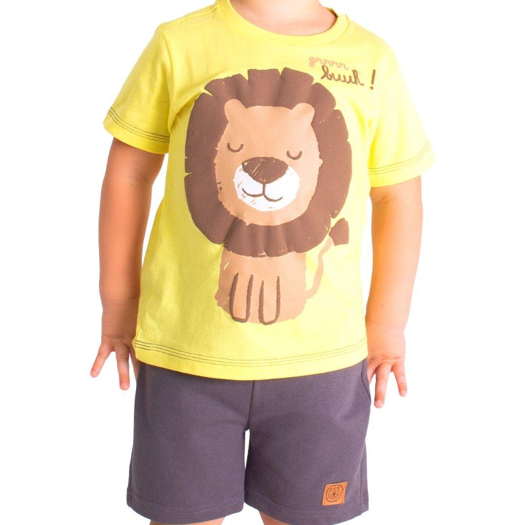 Conjunto Leão Tink Bink Amarelo