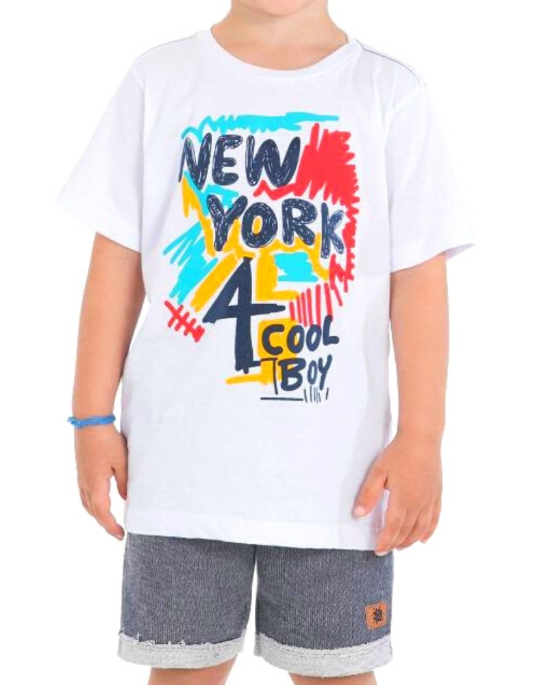 Conjunto New York Be Kids Menino