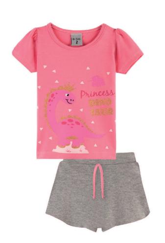 Conjunto Princess Dino Be Kids Chiclete